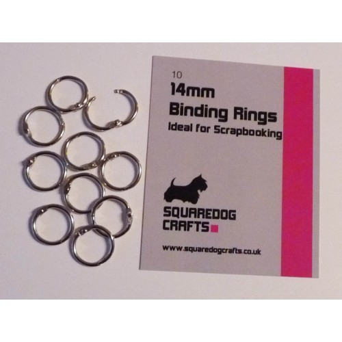 14mm Binding Rings 10 Pk, Free Shipping in UK