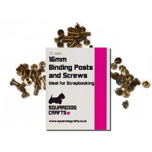 16mm Brass Binding Posts And Screws 100 Pk, Free Shipping in UK
