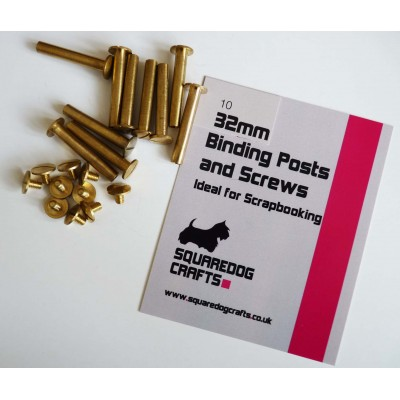 32mm Binding Posts and Screws 10 pack, Free Shipping in UK