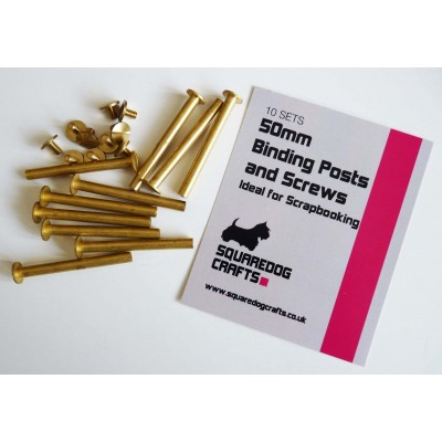 50mm Binding Posts and Screws 10 Pack