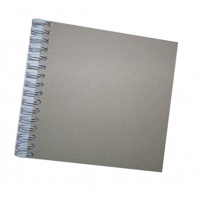 8 x 8 inch Plain Spiral Bound Scrapbook, 10 Leaf.
