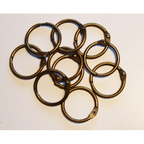 25mm Coloured Metal Binding Rings Bronze 10 Pk, Use with Tolsby, Free Shipping in UK