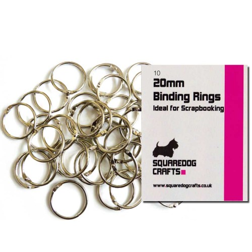 20mm Metal Binding Rings 10 Pk, Free Shipping in UK