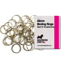 32mm Metal Binding Rings 10 Pk, Free Shipping in UK