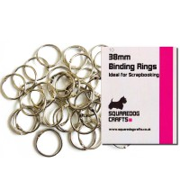 38mm Metal Binding Rings 10 Pk