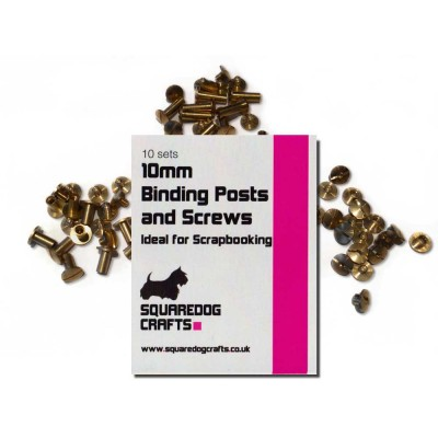 10mm Brass Binding Posts And Screws 10 Pk, Free Shipping in UK