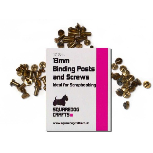 13mm Brass Binding Posts And Screws 100 Pk, Free Shipping in UK