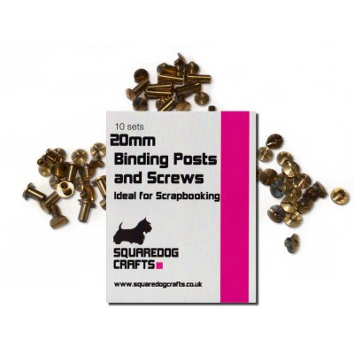 20mm Brass Binding Posts And Screws 100 Pk, Free Shipping in UK