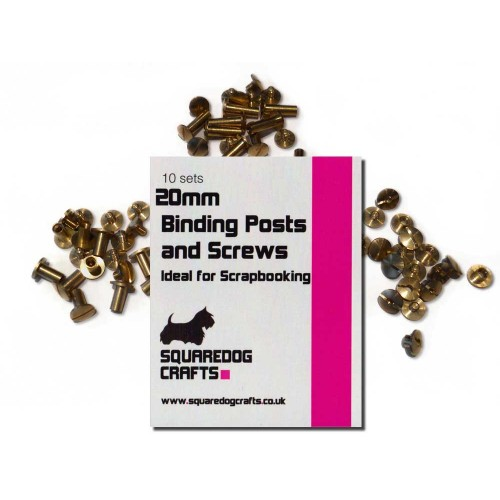 20mm Brass Binding Posts And Screws 10 Pk, Free Shipping in UK