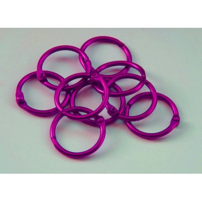 25mm Coloured Metal Binding Rings Pink 10 Pk, Use with Tolsby, Free Shipping in UK