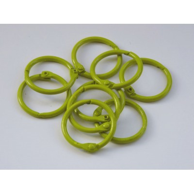 25mm Coloured Metal Binding Rings Yellow 10 Pk, Use with Tolsby, Free Shipping in UK